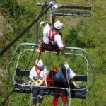 Exercicis de rescat en telecadires amb el CRAM 050